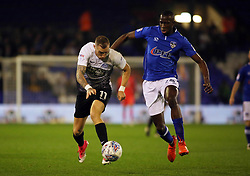 Marcus Maddison of Peterborough United in action with Ousmane Fane of Oldham Athletic - Mandatory by-line: Joe Dent/JMP - 26/09/2017 - FOOTBALL - Sportsdirect.com Park - Oldham, England - Oldham Athletic v Peterborough United - Sky Bet League One
