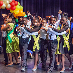 "Dancing the Tango.  Dancing Classrooms Virgin Islands students compete in ""Colors of the Rainbow"" team match competition at Reichhold Center for the Arts.  St. Thomas, USVI.  9 May 2015.  © Aisha-Zakiya Boyd"