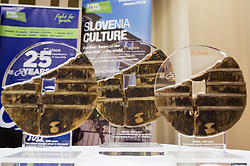 Trophies during press conference of 25th Tour de Slovenie 2018 cycling race, on June 12, 2018 in Hotel Livada, Moravske Toplice, Slovenia. Photo by Vid Ponikvar / Sportida