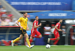 June 23, 2018 - Moscou, Rússia - MOSCOU, MO - 23.06.2018: BÉLGICA Y TÚNEZ - Jan VERTONGHEN from Belgium during the match between Belgium and Tunisia valid for the 2018 World Cup held at the Otkrytie Arena (Spartak) in Moscow, Russia. (Credit Image: © Rodolfo Buhrer/Fotoarena via ZUMA Press)