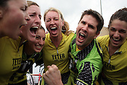 April 15, 2011:  Teter Cycling coach and riders celebrate their repeat win during the Women's Little 500 bicycle race held at Armstrong Stadium on the campus of Indiana University in Bloomington, IN.