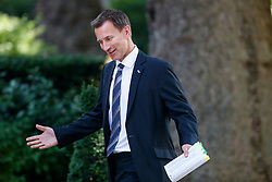 © Licensed to London News Pictures. 04/07/2017. London, UK. Health Secretary JEREMY HUNT attends a cabinet meeting in Downing Street, London on Tuesday, 4 July 2017.Photo credit: Tolga Akmen/LNP