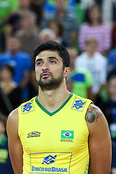 Leandro Vissotto Neves during friendly volleyball match between national teams of Slovenia and Brasil in Arena Stozice on 9. September 2015 in , Ljubljana, Slovenia. Photo by Matic Klansek Velej / Sportida