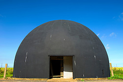 The gunnery dome, used for training members of the RAF Regiment to<br /> use light anti-aircraft guns for airfield protection during and after World War 2, Langham Airfield, North Norfolk Coast, England, UK.