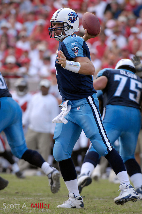 Oct. 14, 2007; Tampa, FL, USA; Tennessee Titans quarterback Kerry Collins (5) in action during his team's game against the Tampa Bay Buccaneers at Raymond James Stadium. ...©2007 Scott A. Miller