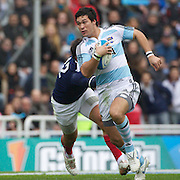 Martin Rodriguez, Argentina, in action during the Argentina V France test match at Estadio Jose Amalfitani, Buenos Aires,  Argentina. 26th June 2010. Photo Tim Clayton....