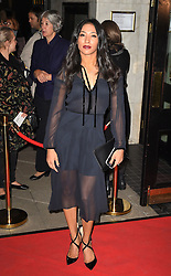 Karen Clifton attends the opening night of Fire in the Ballroom by dance company Burn the Floor at The Peacock in London.