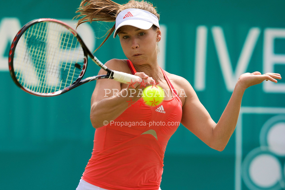 LIVERPOOL, ENGLAND - Wednesday, June 11, 2008: Ashley Harkleroad (USA) in action during the Women's Singles on Day Two of the Tradition-ICAP Liverpool International Tennis Tournament at Calderstones Park. (Photo by David Rawcliffe/Propaganda)