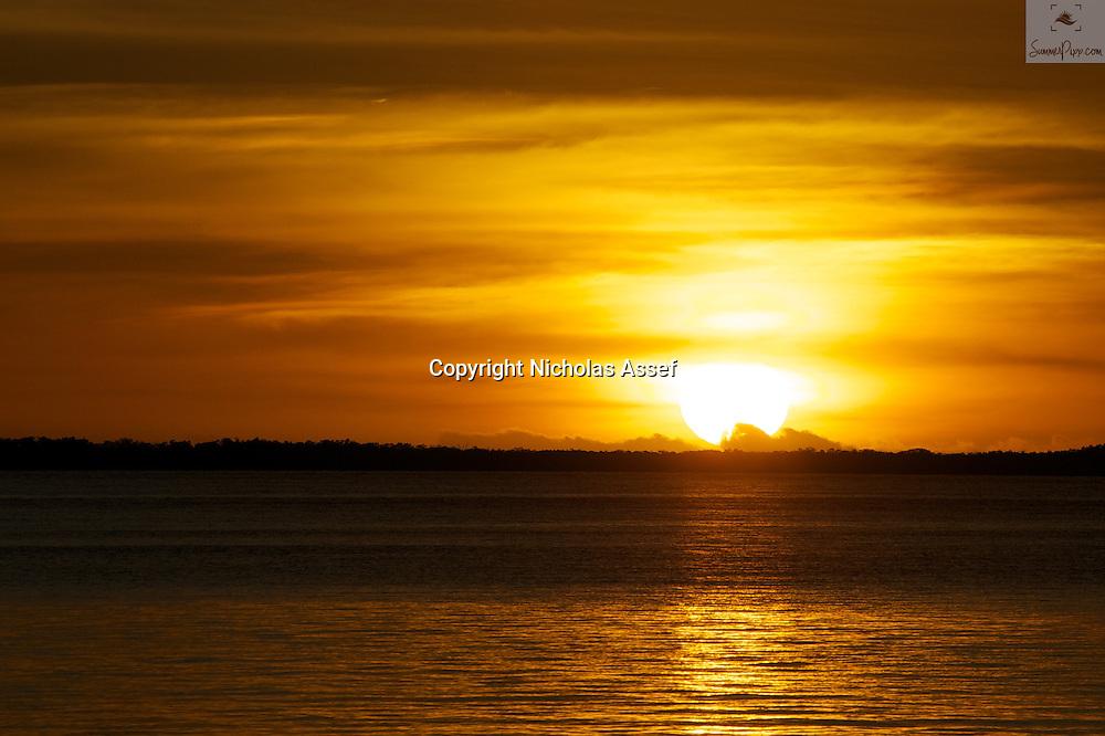 Sunset glows on a magnificent Fiji evening