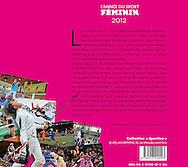 """4ème de couverture de l'année du sport Féminin 2012 des éditions """"DFO, Les éditions""""."""