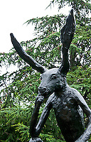 National Gallery, Washington DC. Sculpture of a hare in the Sculpture Park