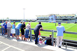 Fans look on at the fun day - Photo mandatory by-line: Dougie Allward/JMP - Tel: Mobile: 07966 386802 21/07/2013 - SPORT - FOOTBALL - Bristol -  Bristol Rovers Fun Day