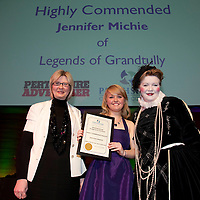 Perthshire Chamber of Commerce Business Star Awards 2009.......26.11.09<br /> Perthshire Advertiser Employee of the Year Star Award Highly Commended presented by Alison Lowson to Jennifer Michie from Legends of Grandtully.<br /> Picture by Graeme Hart.<br /> Copyright Perthshire Picture Agency<br /> Tel: 01738 623350  Mobile: 07990 594431