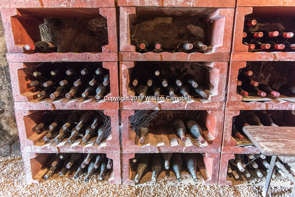 The wine cellar at the Charles Joguet winery and vineyards in Sazily in the Chinon wine region of the Loire Valley.