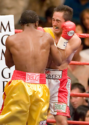 May 6, 2006 - Las Vegas, NV - Kassim Ouma and Marco Antonio Rubio trade punches during their 12 round fight at the MGM Grand Garden Arena.  Ouma won the bout via 12 round split decision.