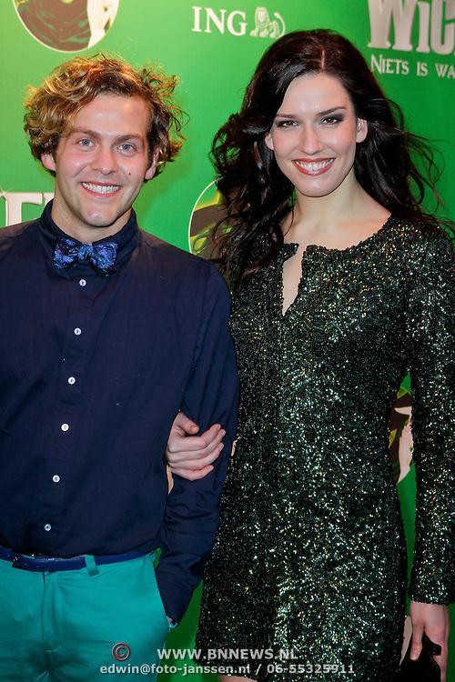 NLD/Scheveningen/20111106 - Premiere musical Wicked, Paul Turner en Renee van Wegberg