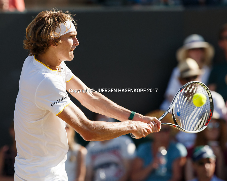 ALEXANDER ZVEREV (GER)<br /> <br /> Tennis - Wimbledon 2017 - Grand Slam ITF / ATP / WTA -  AELTC - London -  - Great Britain  - 8 July 2017.