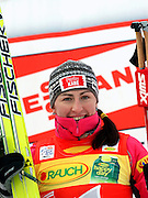 GEPA-02011034008 - OBERHOF,DEUTSCHLAND,02.JAN.10 - SKI NORDISCH, LANGLAUF - FIS Weltcup, Tour de Ski, 10km klassisch, Damen, Siegerehrung. Bild zeigt Justyna Kowalczyk (POL). Foto: GEPA pictures/ Markus Oberlaender.FOT. GEPA / WROFOTO.*** POLAND ONLY !!! ***