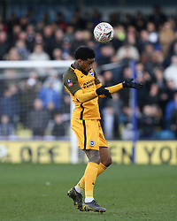 Jurgen Locadia of Brighton and Hove Albion heads the ball - Mandatory by-line: Arron Gent/JMP - 17/03/2019 - FOOTBALL - The Den - London, England - Millwall v Brighton and Hove Albion - Emirates FA Cup Quarter Final