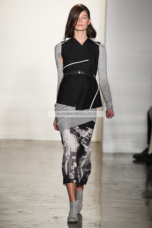 Ava Smith walks down runway for F2012 Zero + Maria Cornejo's collection in Mercedes Benz fashion week in New York on Feb 12, 2012 NYC