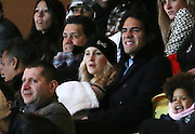 30.NOVEMBER.2013. MONACO<br /> <br /> CODE - CP<br /> <br /> RADAMEL FALCAO WITH WIFE LORELEI TARON AND BABY DAUGHTER ATTEND FRENCH LIGUE 1 FOOTBALL MATCH, MONACO VS RENNES<br /> <br /> BYLINE: EDBIMAGEARCHIVE.CO.UK<br /> <br /> *THIS IMAGE IS STRICTLY FOR UK NEWSPAPERS AND MAGAZINES ONLY*<br /> *FOR WORLD WIDE SALES AND WEB USE PLEASE CONTACT EDBIMAGEARCHIVE - 0208 954 5968*