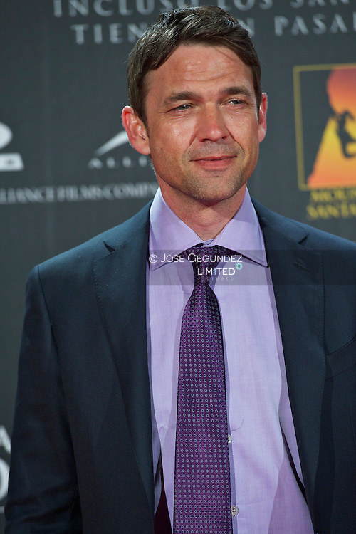 Dougray Scott attends the Premiere of 'There be dragons' at Capitol Cinema in Madrid