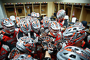 DENVER, CO - JULY 4: Denver Outlaws players huddle up in the locker room before taking the field against the Boston Cannons during their MLL game at Sports Authority Field at Mile High on July 4, 2015 in Denver, Colorado. The Cannons won the game 22-9. (Photo by Marc Piscotty/Getty Images)