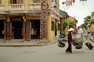 Street activity on downton Hoi An