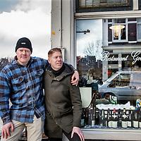 Nederland, Amsterdam, 31 januari 2017.<br />Restaurant Gebr. Hartering in de Peperstraat.<br />Op de foto:  Niek (r) en Paul Hartering.<br /><br /><br /><br />Foto: Jean-Pierre Jans
