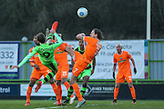 Forest Green Rovers Christian Doidge(9) attempts an overhead kick towards goal during the Vanarama National League match between Forest Green Rovers and Braintree Town at the New Lawn, Forest Green, United Kingdom on 21 January 2017. Photo by Shane Healey.