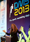 Sally Hancock - former director of Olympic Marketing and sponsorship Lloyds TSB speeks during 11th Sports Marketing Days at Olympic Centre on March 14, 2013 in Warsaw, Poland.<br /> <br /> Poland, Warsaw, March 14, 2013.<br /> <br /> Picture also available in RAW (NEF) or TIFF format on special request.<br /> <br /> For editorial use only. Any commercial or promotional use requires permission.<br /> <br /> Photo by &copy; Adam Nurkiewicz / Mediasport