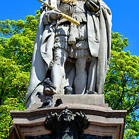King Edward VII Statue in Aberdeen, Scotland<br />