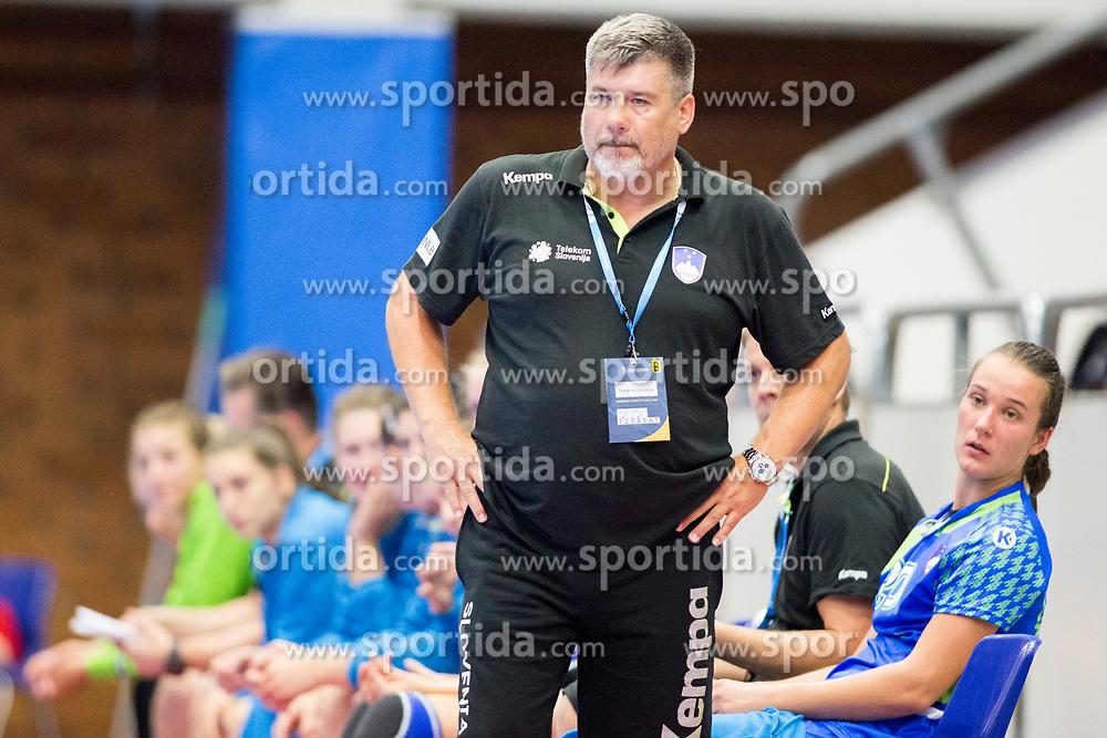 Bojan Voglar, head coach of Slovenia at handball match between Slovenia and Montenegro at EHF European Women's Handball Championship Under 19, on July 27, 2017 in Golovec sports hall, Celje, Slovenia. Photo by Urban Urbanc / Sportida
