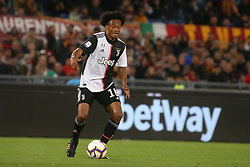 May 12, 2019 - Rome, Lazio, Italy - Roma, Lazio, Italy, 12-05-19, Italian football match between As Roma - Juventus at the Olimpico Stadium in picture Juan Cuadrado striker of Juventus , the final score is 0-2 for As Roma  (Credit Image: © Antonio Balasco/Pacific Press via ZUMA Wire)