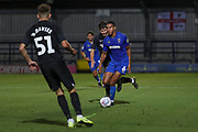 AFC Wimbledon defender Terell Thomas (6) dribbling during the EFL Trophy (Leasing.com) match between AFC Wimbledon and U23 Brighton and Hove Albion at the Cherry Red Records Stadium, Kingston, England on 3 September 2019.