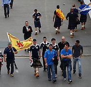 Picture by John Rainford/Focus Images Ltd +44 7506 538356<br /> 14/08/2013<br /> Scotland fans arriving for the International Friendly match at Wembley Stadium, London.