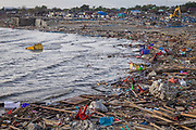 Destroyed waterfront of Talise beach were destroyed and filled with debris when a 7.5 earthquake magnitude hit off the coast of Donggala, Palu Sulawesi Central, Indonesia on Sept. 28th causing a tsunami.