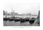 24 Meitheamh 1959<br /> Na b&aacute;id ceangailte le ch&eacute;ile sa gcuan agus Comhlacht G&aacute;is Bhaile &Aacute;tha Cliath sa ch&uacute;lra. <br /> <br /> The boats tied together in the harbour with Dublin Gas Company in the background