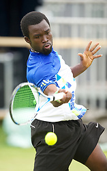 LIVERPOOL, ENGLAND - Wednesday, June 20, 2012: Albert Apreku Arthur (GHA) during the final of the men's qualifying on kids' day at the Medicash Liverpool International Tennis Tournament at Calderstones Park. (Pic by David Rawcliffe/Propaganda)