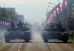 01.08.2015, Zagreb, CRO, Generalprobe zur Militärparade in Zagreb, Anlässlich des 20. Jahrestages des Militäroperation Sturm, im Bild Übersicht auf die Parada // during Rehearsal of Ceremonial military parade on the occasion of the 20th anniversary of the military operation Storm. Zagreb, Croatia on 2015/08/01. EXPA Pictures © 2015, PhotoCredit: EXPA/ Pixsell/ Jurica Galoic<br /> <br /> *****ATTENTION - for AUT, SLO, SUI, SWE, ITA, FRA only*****