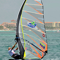 Diony Guadagnino in Aruba Hi Winds 2012. Aruba Island, July 3-July 9, 2012. International Competition windsurfing and kite surfing. Jimmy Villalta & Valentina Calatrava