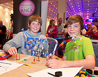 Conor Lee and Jack Egan from Clarinbridge National School who took part in the  Medtronic Knex Challenge at the Radisson blu Hotel.  Medtronic KNEX Challenge is for  primary school children completing  exceptional tasks which will be judged on the level of engineering, innovation and communication displayed by the teams.. .The final event of the week is the Medtronic  Junior FIRST LEGO League challenge on THURSDAY. This is the second year The Galway Education Centre has hosted this competition - one of only six countries in the world who do so. Following the success of last year, over 500 school children from all over the country are expected to come along and practice their robotics, presentation and teamwork skills live on the night!. .Bernard Kirk, Director of The Galway Education Centre says; ?Working on this three day event every year is fun and exciting and always surprising. The talent, instinct and drive we discover in these young children is an inspiration to all of us. We look forward to the continued success of all of our challenges which would not be possible without the support of companies like Medtronic, SAP, HP and LEGO?.. .All of these events are open to the public and free admission. They will also be streamed live on line at www.galwayeducationcentre.ie. Photo:Andrew Downes.
