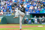 March 29, 2018 - Kansas City, MO, U.S. - KANSAS Kansas City, MO - MARCH 29: Chicago White Sox starting pitcher James Shields (33) on the mound during the major league opening day game against the Chicago White Sox on March 29, 2018 at Kauffman Stadium in Kansas City, Missouri. (Photo by William Purnell/Icon Sportswire) (Credit Image: © William Purnell/Icon SMI via ZUMA Press)
