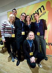 """Ekipa Sportforuma na okrogli mizi na temo """"Slovenska kosarka - le kos do svetovnega vrha?"""" v organizaciji SportForum Slovenija, 19. oktober 2009, Austria Trend Hotel, Ljubljana, Slovenija. (Photo by Vid Ponikvar / Sportida)"""