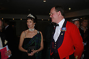 Iona, Duchess of Argyll and Col Alastair Makeson. The  Royal Caledonian Ball in aid of The Royal Caledonian Ball Trust held at The Grosvenor House Hotel, Park Lane, London W1.  28  April 2005. ONE TIME USE ONLY - DO NOT ARCHIVE  © Copyright Photograph by Dafydd Jones 66 Stockwell Park Rd. London SW9 0DA Tel 020 7733 0108 www.dafjones.com