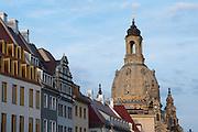 Häuser am Neumarkt, Frauenkirche, Altstadt, Dresden, Sachsen, Deutschland | houses at Neumarkt, church of Our Lady, Dresden, Saxony, Germany,