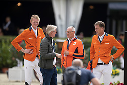 Houtzager Marc, NED, Schuttert Frank, NED, Lansink Jos, BEL, Ehrens Rob, NED<br /> Longines FEI Jumping Nations Cup™ Final<br /> Barcelona 20128<br /> © Hippo Foto - Dirk Caremans<br /> 07/10/2018