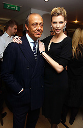 FAWAZ GRUOSI and NADJA AUERMANN at a lunch hosted by Fawaz Gruosi to celebrate the launch of De Grisogono's latest watch 'Be Eight' held at Nobu, 19 Old Park Lane, London W1 on 30th November 2006.<br /><br />NON EXCLUSIVE - WORLD RIGHTS