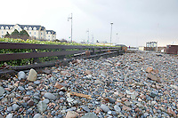 03/01/2014. The prom in Salthill Galway covered in stones town up by the sea. Photo:Andrew Downes.