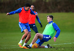 New signing Tony Craig tackles Liam Sercombe as he takes part in his first training session after signing for Bristol Rovers - Mandatory by-line: Robbie Stephenson/JMP - 01/02/2018 - FOOTBALL - The Lawns Training Ground - Bristol, England - Bristol Rovers Training